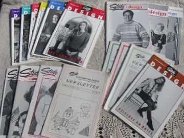 Lot knitting machine pattern back issue magazines, Studio Design/White