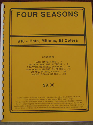 Lot knitting machine pattern books, afghans and pillows, hats, mittens etc.