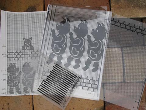 Lot Knitting Machine Pattern Books Fair Isle Colorwork