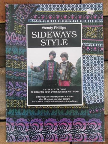 knitting machine pattern books, fair isle colorwork, monogram charts