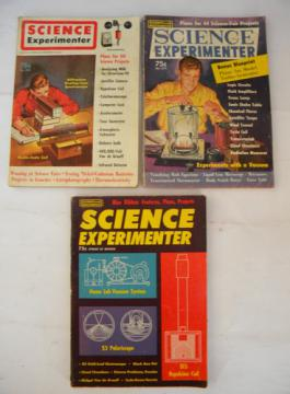 Lot mid-century vintage Science and Mechanics magazines Experimenter w/Tesla Coil