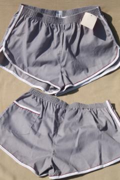 Lot new old stock vintage gym shorts, Jockey track running sport shorts size L 36-38