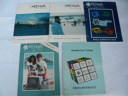 Lot of 11 1980s vintage Heath / Zenith Remark magazines Heathkit