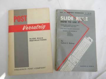 Lot of 1950/1960s vintage slide rule instructions/manuals Post Versatrig