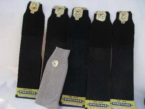 Lot Of 1950s Vintage Mens Socks Sheer Nylon Mint W