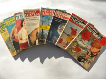 Lot of 1950s vintage Popular Electronics magazines w/DIY projects