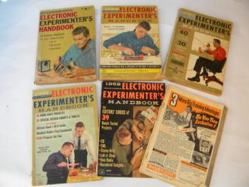 Lot of 1950s/1960s vintage Popular Electronics Experimenters Handbooks