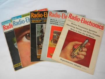 Lot of 1960s Radio-Electronics magazines w/articles&advertising