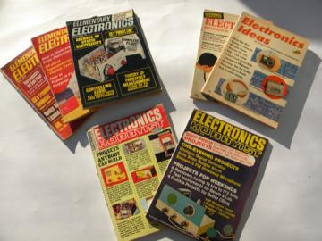 Lot of 1960s vintage Elementary Electronics handbooks, projects&experiments