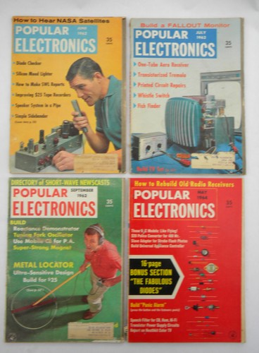 Lot of 1960s vintage Popular Electronics magazines w/projects & plans
