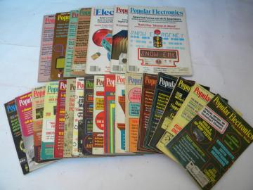 Lot of 1970s Popular Electronics magazines w/projects & plans