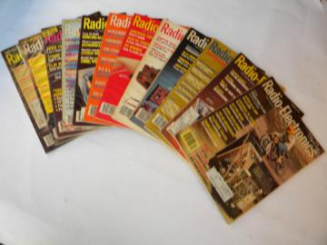 Lot of 1979 Radio-Electronics magazines full year w/DIY projects