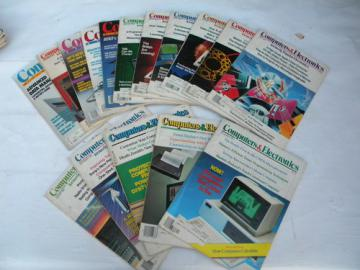 Lot of 1980s early PC vintage Computers&Electronics/Popular Electronics magazines