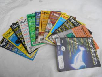 Lot of 1990 full year Popular Electronics magazines w/projects&plans