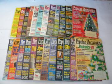 Lot of 1990s vintage Popular Electronics magazines 1994 & 1995 full years