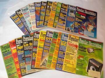 Lot of 1996&1997 Popular Electronics magazines full years w/DIY projects