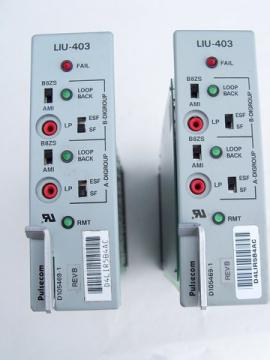 Lot of 2 Hubbell/Pulsecom LIU-403 line interface units w/instructions