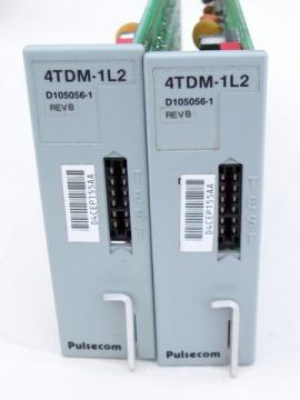 Lot of 2 Pulsecom model 4TDM-1L2 time division multiplexing channel units
