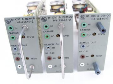 Lot of 3 industrial radio RFL BF oscillator / demodulator HB-25640-2