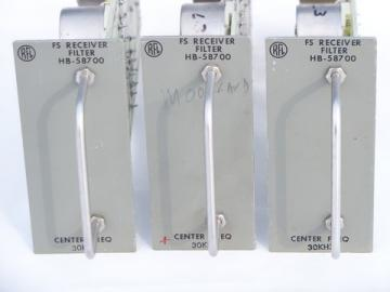 Lot of 3 industrial telecommunications RFL FS receiver filter HB-58700
