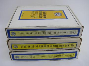 Lot of 3 Napa automotive VHS video courses on emission control/engine management & ignition