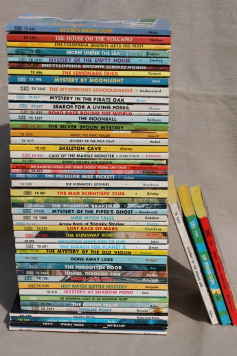 lot of 50 childrens mystery paperback books 70s vintage