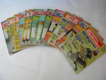Lot of 70s vintage Elementary Electronics magazines w/projects & plans