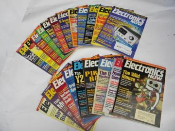 Lot of 90s vintage Electronics Now magazines w/DIY projects full year 1998