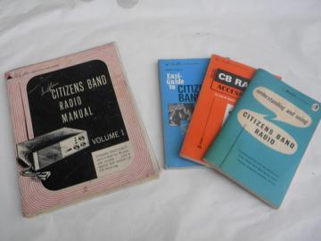 Lot of assorted vintage CB amateur radio operator books