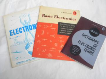 Lot of assorted vintage electronics books w/circuit diagrams etc