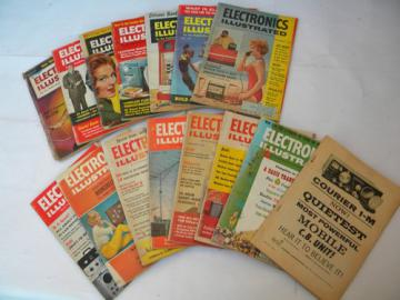 Lot of early 1960s vintage Electronics Illustrated magazines from Mechanix Illustrated