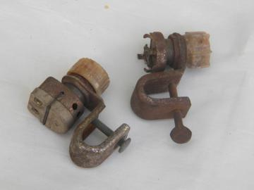 Lot of hotrod vintage car/truck spotlight switches for restoration or parts.