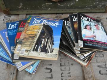 Lot of old Lost Treasure magazines full years early 1980s back issues