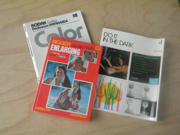Lot of retro photography film developing & darkroom books, Kodak+