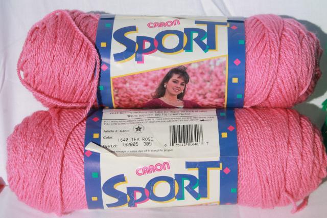 lot of vintage acrylic yarn, Caron Simply Soft, Caron ...