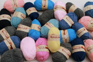 lot of vintage acrylic yarn, Caron Wintuk 4 sport weight yarn for knitting / crochet