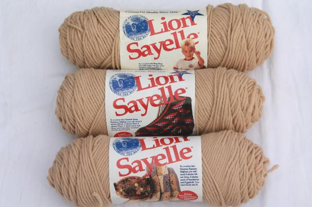 lot of vintage acrylic yarn, sand adobe southwest sunset colors, 16 skeins