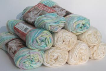lot of vintage acrylic yarn, soft fuzzy Caron Dazzleaire varigated colors