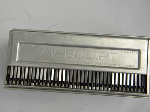 Lot of vintage Airequipt aluminum 2x2 slide projector magazines/trays