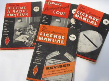 Lot of vintage ARRL amateur radio license manual morse code etc