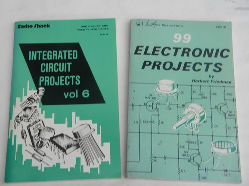 lot of vintage diy do it yourself electronic project books