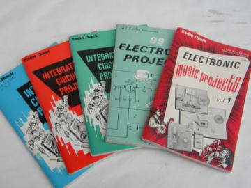 Lot of vintage DIY do-it-yourself electronic project books