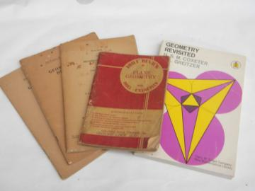 Lot of vintage geometry and geometric drawing books