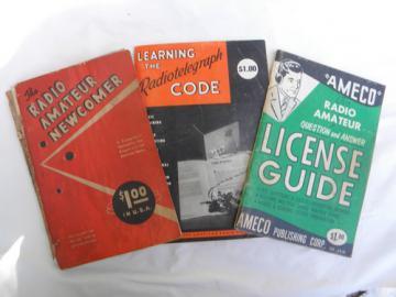 Lot of vintage ham & shortwave radio operator Morse code & license guides