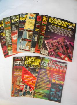 Lot of vintage Popular Electronics experimenters handbooks w/projects