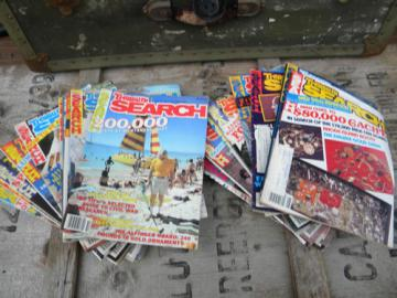 Lot of vintage Treasure Search magazines, full years of 80s back issues