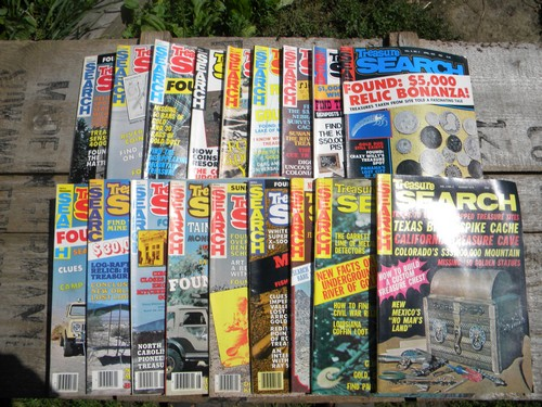 Back Issues Treasure Magazine Metal Detecting 12 Issues Lot 1981 Whole Year