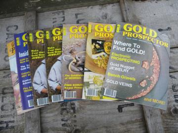Lot old 1980s back issues Gold Prospector magazines, finding/panning+