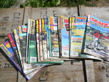 Lot old 1980s back issues Treasure Search magazines, full years.