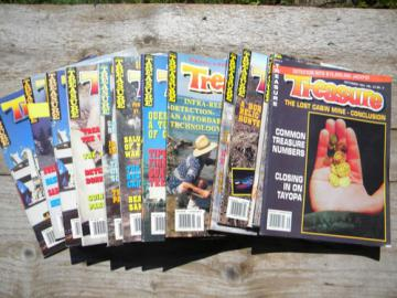 Lot old 1990s back issues Treasure magazines, metal detecting etc.